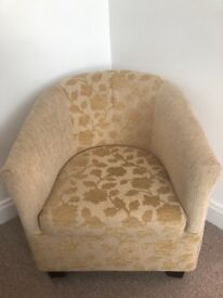 Tub chair - creams and beige