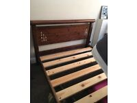 Solid wooden bed
