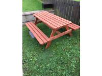 BRAND NEW PICNIC TABLE/ PICNIC BENCH/SUMMER SEAT