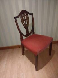 Extra Wide Bedroom Boudoir / Hall Chair - Antique Solid Wood Mahogany