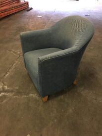 Single Blue tub sofa armchairs