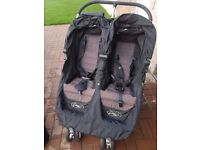 Baby Jogger City Mini Double and carrycot