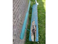 Fantastic Vintage Park / Railway Green Bench Project with Cast Iron Ends - Delivery Available