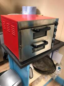 Commercial equipment pizza oven steel table