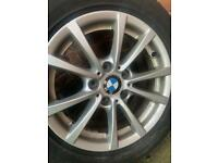 BMW 16 inch Alloys with tyres. 250 Ono