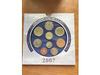 UK uncirculated coin collection 2007