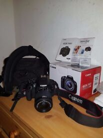 Canon EOS 700D with accessories - brand new condition DSLR (with bag)