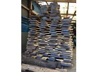 Approximately 200 seasoned hardwood boards - elm, birch, sycamore, lime