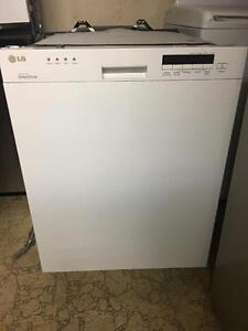 White LG digital Dishwasher