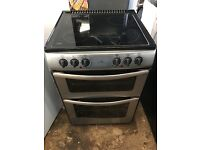 New World E60 60cm Double Electric Cooker in Satin Steel #3616