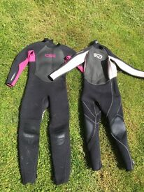 Two girls wetsuits