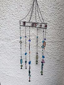 The pier wind chime stained glass garden decoration