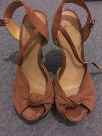 Topshop pink sandal heels
