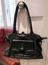 Jones the Bootmaker black leather handbag