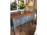 Vintage Shabby Chic Dresser Sideboard Cabinet Buffet