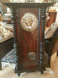 Beautiful clock in hard wood case