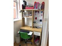 Office desk / study desk / keyboard / office chair