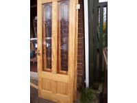 2 glazed interior doors