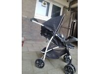 Graco pushchair with attachable carseat