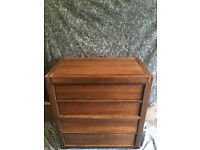 Solid wooden chest of drawers Free delivery
