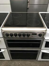 HOTPOINT free standing electric ceramic cooker 60 cm width stainless steel in perfect working order
