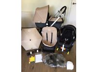 selling a bugaboo cameleon sand travel set and maxi cozi car and isofix seat in excellent condition
