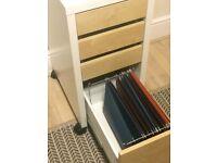 Ikea Micke drawers with drop file