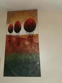 COLOURED CANVAS WALL ART PAINTING