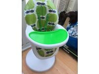 Cosatto 3Sixti2 Baby Highchair Green Apple Design