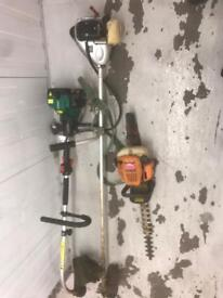 Strimmer hedge cutters lawn mower