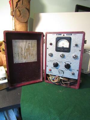 Crt Cathode Rejuvenator Tester 350 Bk Precision Equipment 1960s Power Up Th