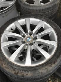 Genuine BMW 3 series alloys with tyres