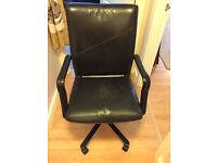 Black Leather Office Chair - Great Condition