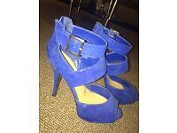 Blue high heels size 6