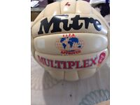 Rare original vintage 1980's Mitre Multiplex football size 4