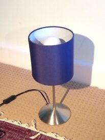 SMALL BLUE LAMP (near Highfield Campus) - Ikea Tiarp: Perfect for a night stand!