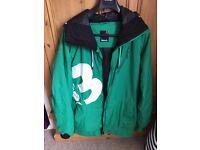MENS Green Bench Ski Jacket SIZE LARGE