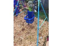 Blue baby outdoor swing