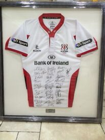 Framed Ulster rugby shirt