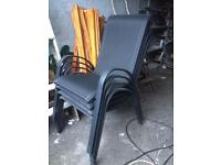 set of 4 patio chairs / garden chairs ideal for outside caravan hardly been used bargain £20