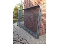 4 Heras fencing panels, gate, feet and clips