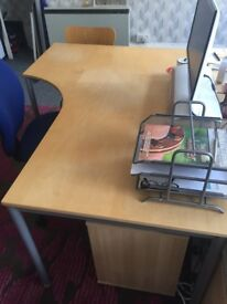 3 x IKEA office corner desks in excellent condition - £60 for 3 or £20 each