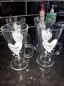 Latte Glasses from Next - Excellent condition