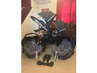 iCandy Peach 3 Twin Double Pram Pushchair CAN POST