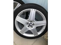 "MERCEDES ML: AMG ALLOY WHEELS 21"" WITH CONTINENTAL TYRES"
