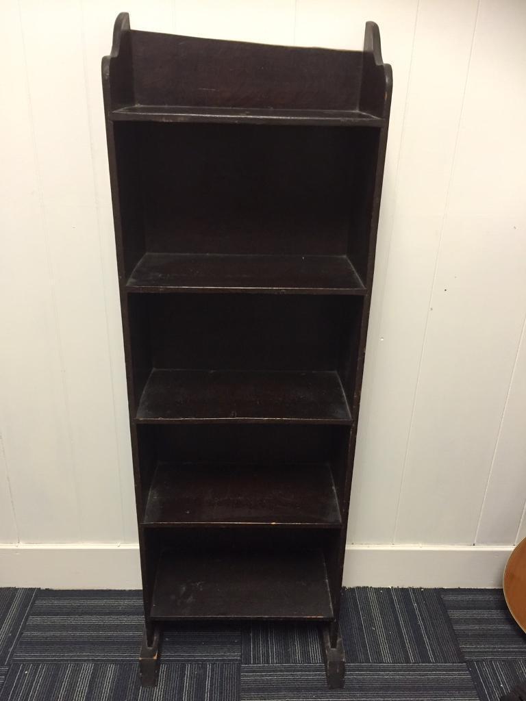 Antique slim line bookcase