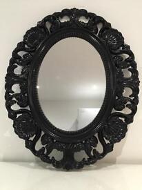 Black vintage wall mirror