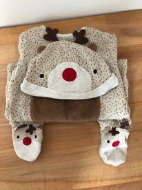 Christmas sleep suit and hat set