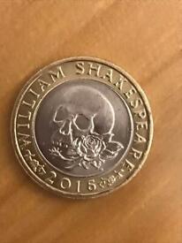 Rare £2 shakespeare coin minting error