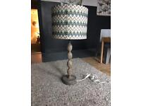 XL Missoni Style Tall Lamp Bedside Table Light Shade Distressed Rustic Shabby